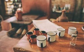 Картинка wood, cup, bokeh, room, table, environment, cups, mug, mugs