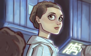 Картинка глаза, взгляд, девушка, star wars, art, Leia, Leia Organa, princess leia
