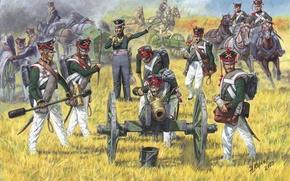 Картинка арт, Русская, вооружённые 6 - фунтовыми пушками, артиллерийские команды, действовали в войне с минимальных дистанций., ...