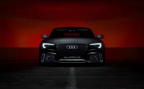 Картинка фон, Audi, фары, quattro, передок