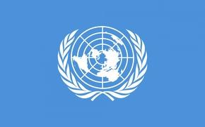 Картинка world, blue, flag, united nation