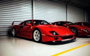 Картинка Ferrari, суперкар, red, F40, феррари, красная, frontside