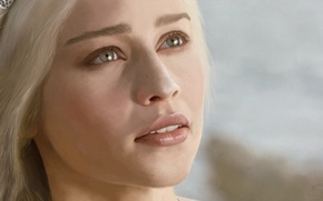 Картинка взгляд, лицо, Game of Thrones, Emilia Clarke, Daenerys Targaryen, эмилия кларк
