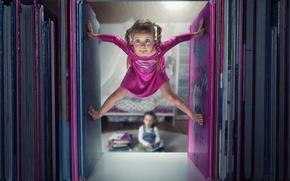 Картинка книги, юмор, девочка, little, Supergirl