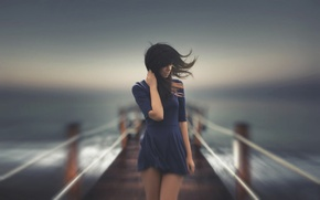 Картинка море, ветер, размытие