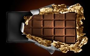 Обои плитка, фольга, шоколад