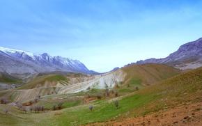 Обои горы, холмы, весна