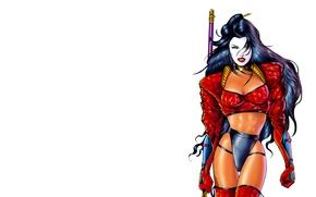 Картинка девушка, воин, комикс