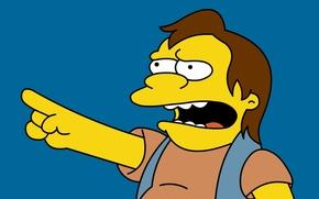 Обои Симпсоны, Nelson, Нельсон, Simpsons