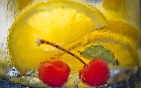 Картинка макро, стакан, напиток