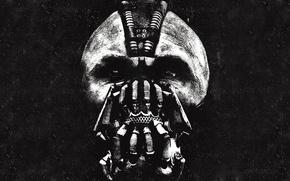 Обои темный рыцарь: возрождение легенды, Том Харди, the dark knight, бэйн, bane