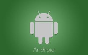 Картинка green, минимализм, android, tech, google