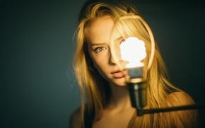 Обои лампа, освещение, губки, Mila, Jesse Herzog