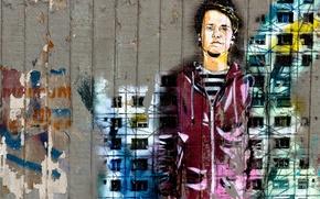 Картинка графити, город, стена