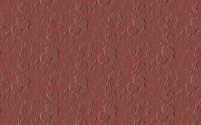 Картинка линии, цветы, узор, коричневый