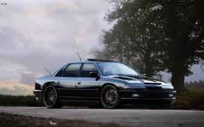 Картинка черный, тюнинг, форд, Ford scorpio