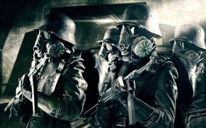 Картинка Mask, Helmet, Uniform, MP 40, Nazi, Iron sky, SS troopers