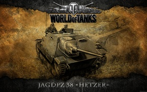 Картинка Германия, танк, танки, WoT, World of Tanks, ПТ-САУ, Hetzer
