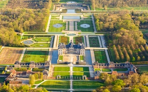 Картинка парк, Франция, дворец, усадьба, Во-ле-Виконт, Николя Фуке, Мелён