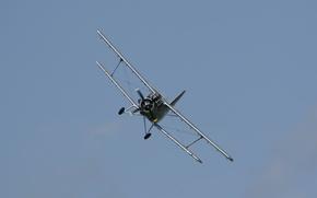 Обои небо, полёт, самолёт, многоцелевой, биплан, лёгкий, Antonov AN-2