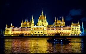 Картинка Ночь, night, Венгрия, Hungary, Будапешт, Budapest