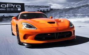 Картинка машина, скорость, Dodge, Viper, передок, SRT