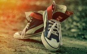 Картинка обувь, кеды, боке, P u m a