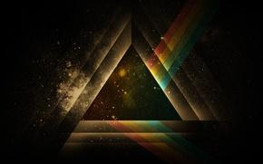 Картинка абстракция, фон, обои, черный, графика, фигура, геометрия, треугольник