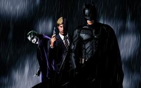 Обои batman, бэтмен, рыцарь, джокер, черный