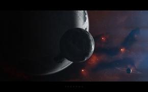 Картинка космос, планеты, space
