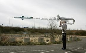 Обои труба, ракета, ситуация