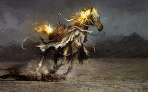Картинка конь, арт, чума, Daniel Kamarudin