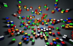Картинка рендеринг, cinema, cinema 4d, кубик, кубик рубика, rendering, рубик, cube, синема 4д, синема, rubick, rubick's …