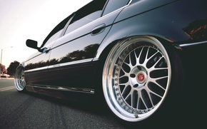 Картинка диски, БМВ, асфальт, E38, тюнинг, Бумер, 7 series, 750il, BMW, stance, колеса