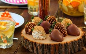 Картинка еда, шоколад, клубника, фрукты, fruit, chocolate, strawberries