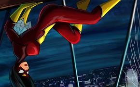 Картинка город, костюм, Marvel Comics, Spider-Woman, Jessica Drew