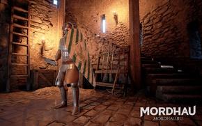 Картинка Mordhau, средневековый экшен, многопользовательский средневековый экшен, воин средневековья