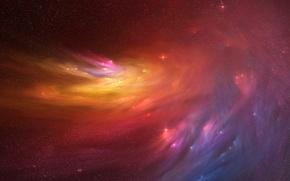 Картинка космос, свечение, звёзды
