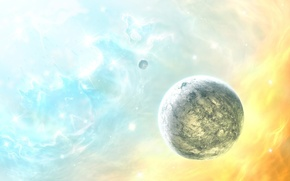 Обои цвет, звезды, Планета
