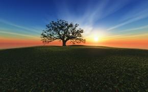 Картинка закат, Sunset Hill