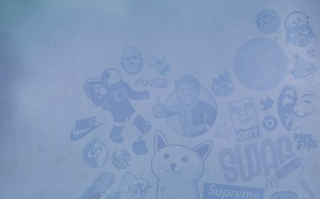 Картинка superman, fallout, nike, brand, obey, mcdonalds, supreme