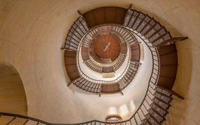 Картинка спираль, Германия, лестница, Мекленбург-Передняя Померания, охотничий домик, Granitz, Рюген
