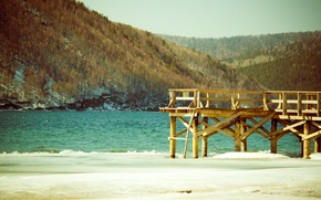 Картинка вода, озеро, причал