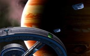 Картинка корабли, станция, Юпитер