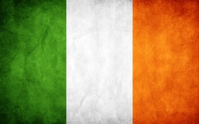 Картинка белый, оранжевый, зеленый, флаг, grunge, легенды, основа скандинавской мифологии, flag, старшая эдда, ireland, ирландия