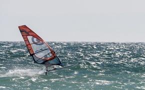 Обои море, Windsurfer, спорт