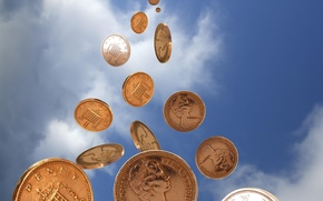 Картинка небо, деньги, монеты