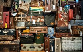 Картинка wall, leather, color, variety, cloth, luggage