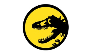 Картинка danger, black, dinosaur, yellow, logo
