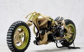 Обои шипы, мотоцикл, байк